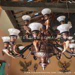 Lampu Robyong Tembaga ( Lampu Gantung Tembaga )