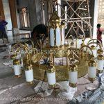 Replika Lampu Nabawi Kuningan ( Lampu gantung )