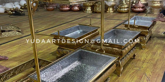 pemanas makanan kuningan ( model batik )